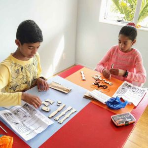 Children make a STEM kit