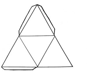 Template for pyramid lamp