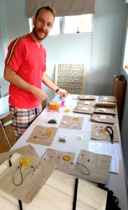 Stefan making up torch kits