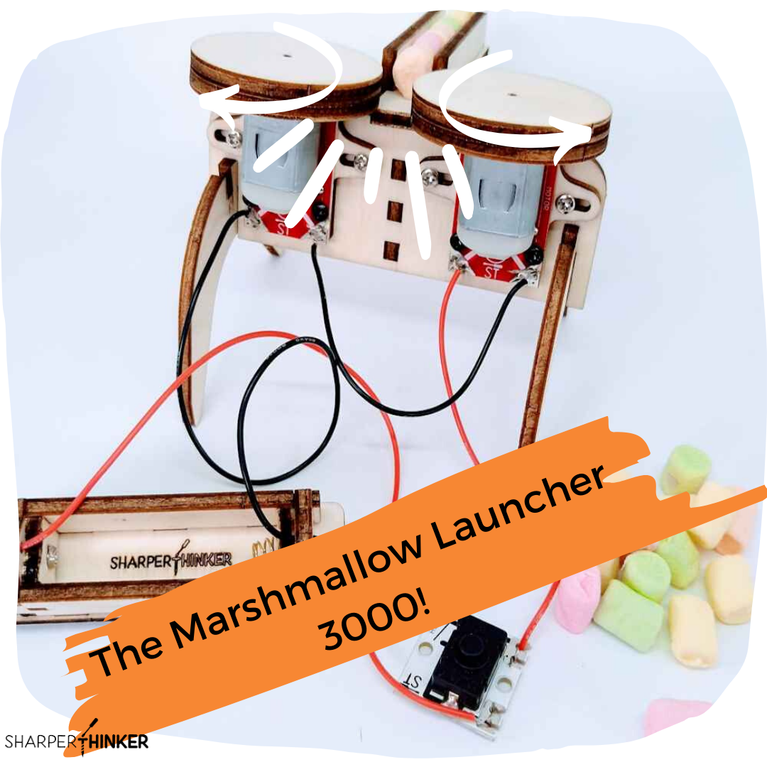 Shoot marshmallows and learn physics hands-on at the same time with this STEM kit!