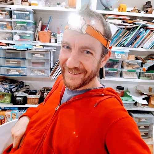 He's not into adult colouring books but just might like to make his own headtorch instead.